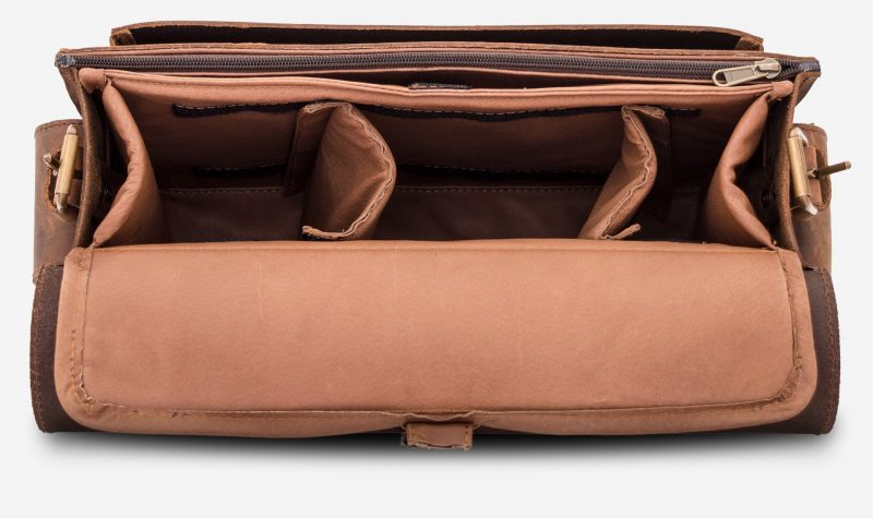 Insert with 2 separators for brown leather camera bag 733103.