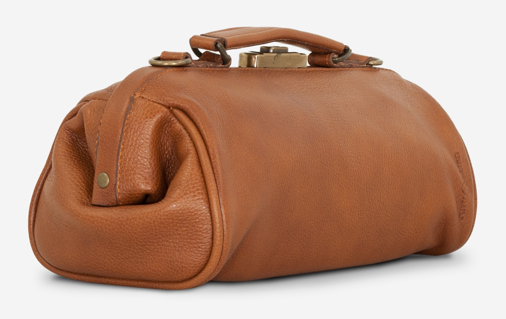 Back View Of The Soft Brown Leather Doctor Bag For Women