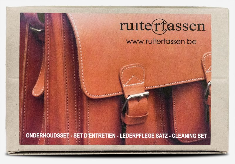 Wax for vegetable-tanned leather in care kit.