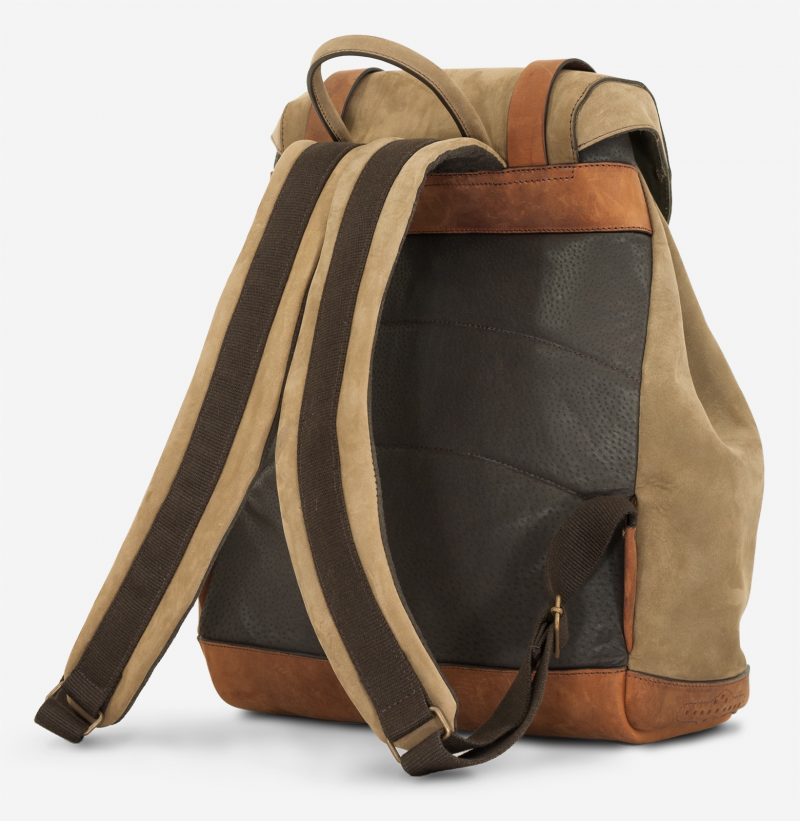Back view of the the beautiful soft leather backpack.