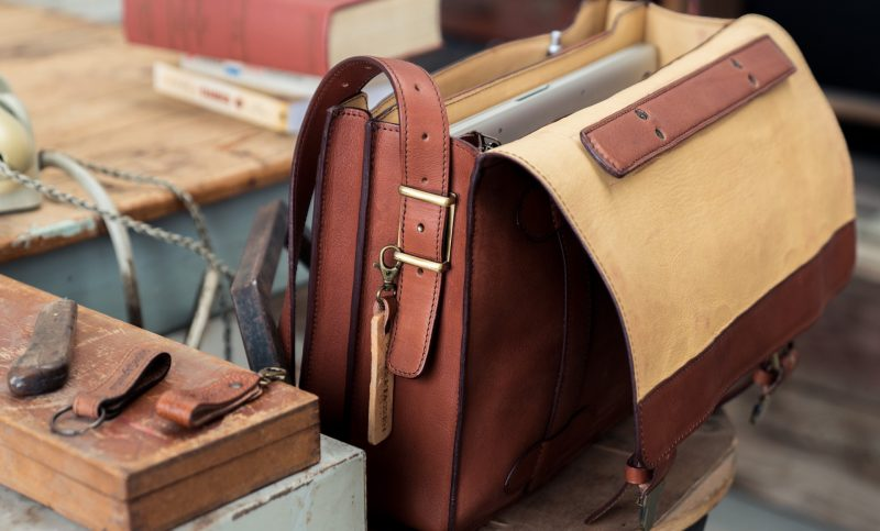 luxury executive leather bag for men.