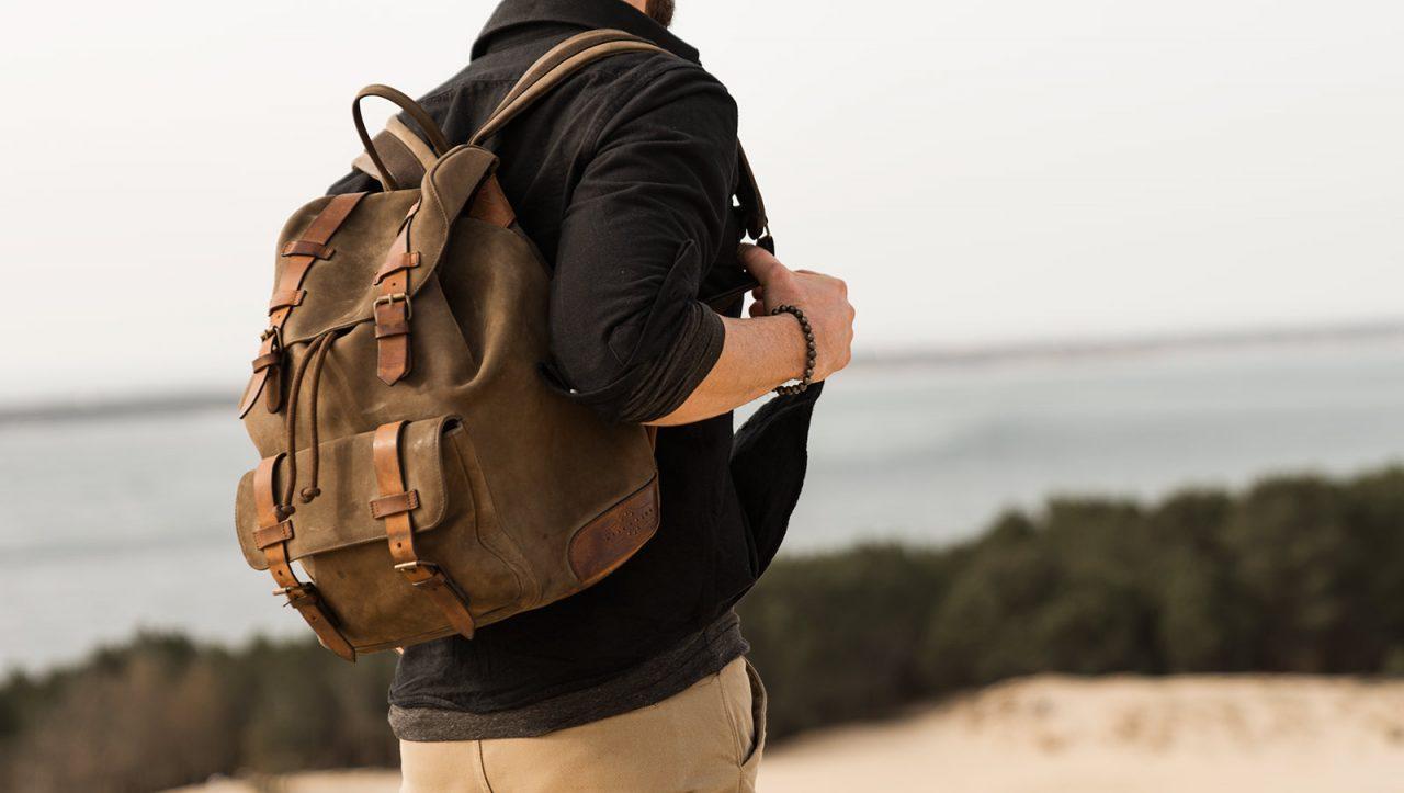 Best leather backpack for men.