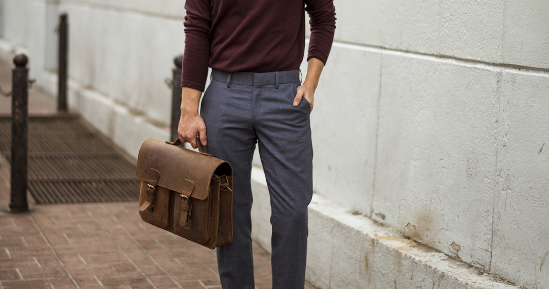 Best office leather bags for gents.
