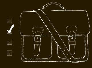 leather satchel finder tool