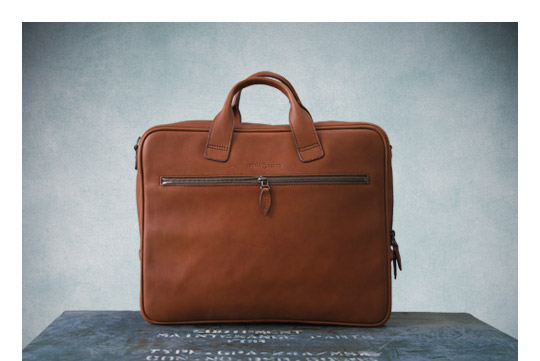 Luxurious business leather briefcase.