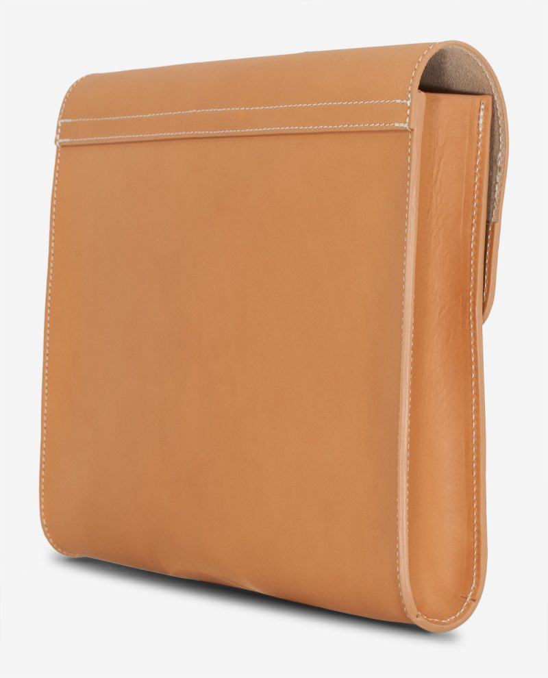 Back of the underarm leather case.