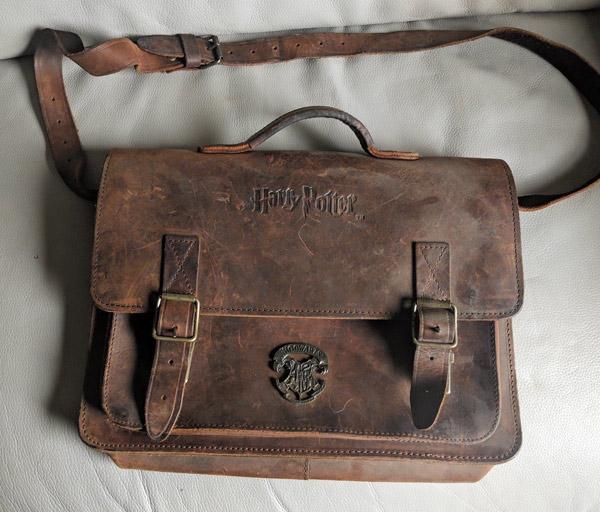 Vintage Harry Potter leather satchel