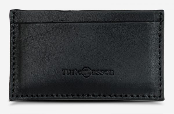 Black leather card holder.