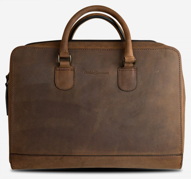 Beautiful brown leather portfolio briefcase.