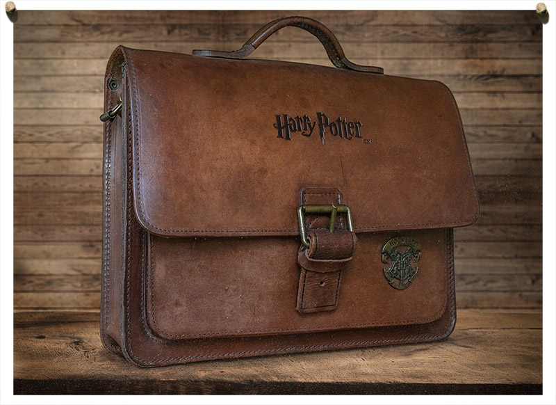 Genuine Harry Potter's leather satchel.