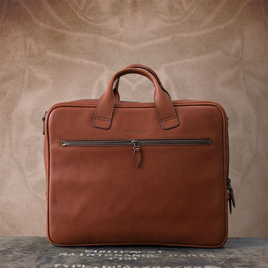 Best vegetable-tanned leather briefcase.