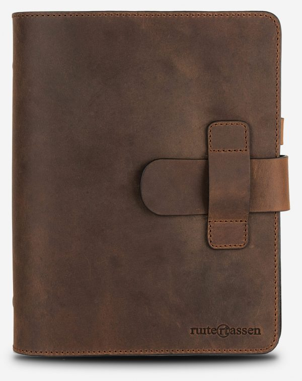 Vintage leather ring notebook.