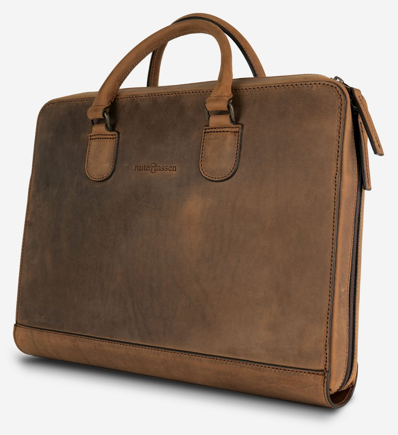 """Slim leather briefcase for macbook 15 or 16"""""""