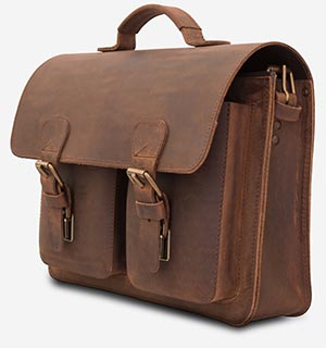 Professor traditional leather satchel.