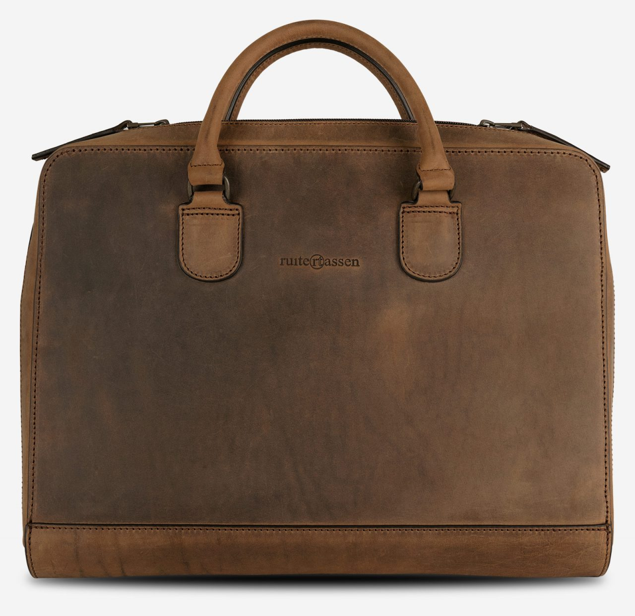 Slim vintage leather briefcase for macbook laptop.