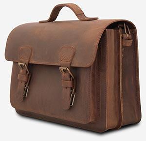 Beautiful old school leather satchel briefcase.