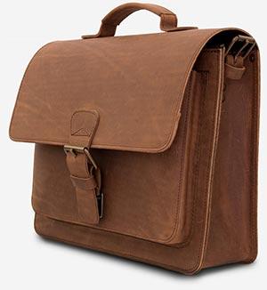 Vintage leather briefcase.